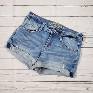 Arizona Distressed Cuffed Jean Shorts